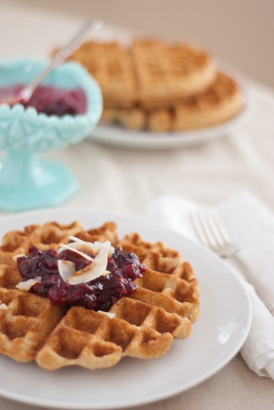 Whole Wheat Coconut Waffles | Bottomless Bites