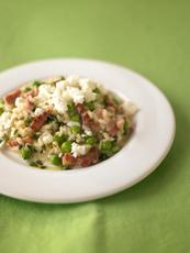 Pea & goat's cheese risotto