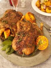 Easy Christmas roast duck with crispy potatoes & port gravy