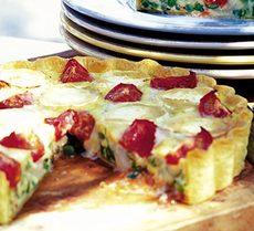 Garden vegetable & goat's cheese quiche