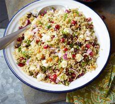 Herby quinoa, feta & pomegranate salad