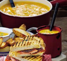 Honeyed carrot soup