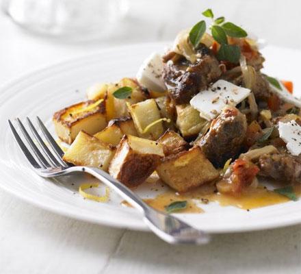 Lamb Kleftiko with lemon roast potatoes | Bottomless Bites