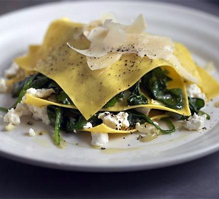 Open spinach & ricotta ravioli | Bottomless Bites