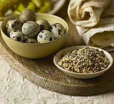 Quail eggs with dukkah