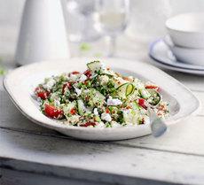 Quinoa, courgette & feta salad