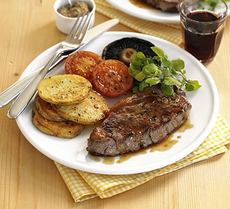Quick steak grill