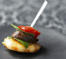 Prawn, chorizo & tomato kebabs