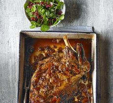 Slow-roast Persian lamb with pomegranate salad