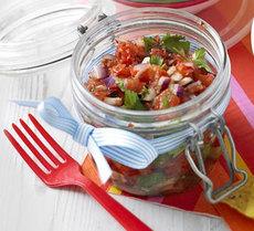 Smoky chipotle pepper salsa