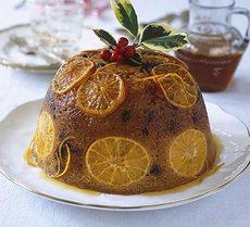 Sticky orange & marsala pudding