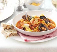 Summer fish stew with rouille