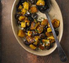 Roast squash & chestnuts