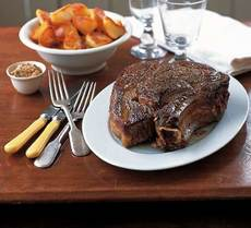 Roast rib of beef for two