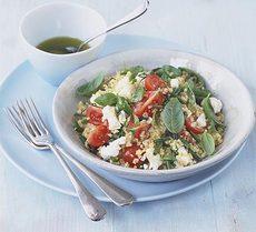 Bulgur wheat, feta & herb salad