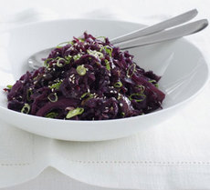 Chinese braised red cabbage
