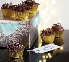 Chocolate chestnut cupcakes