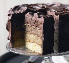 Chocolate & caramel layer cake