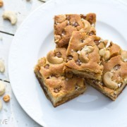 Salted Caramel Cashew Blondies Recipe