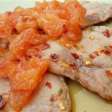 Benji's Pork Chops with Grapefruit Relish