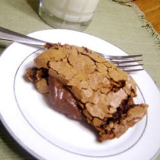 Bittersweet Chocolate Mousse Brownies