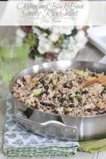 Chicken and Black Bean Smoky Rice Skillet