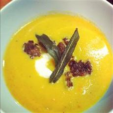 Butternut Squash Soup With Sage and Sausage