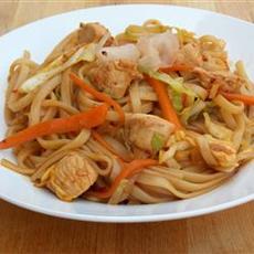 How to Make Chicken Yakisoba