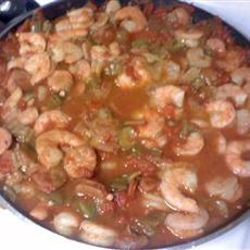 Easy Creole Okra and Shrimp