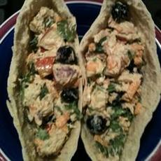 Fruit, Veggie, and Tuna Salad Wrap