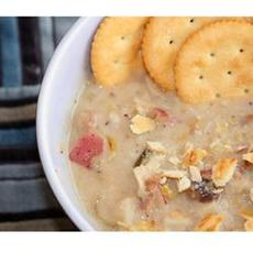 Leek Potato Mushroom Cheddar Soup