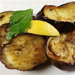 Olive Oil Roasted Eggplant with Lemon