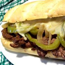 Philly Cheesesteak Sandwich with Garlic Mayo