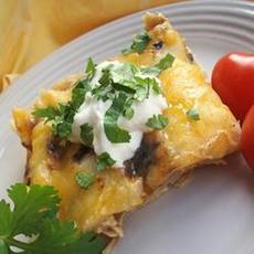 Easy Chile Chicken Enchilada Casserole
