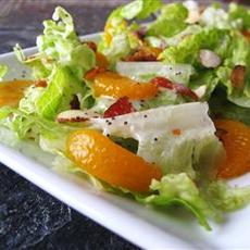 Romaine and Mandarin Orange Salad with Poppy Seed Dressing
