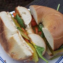 School Lunch Bagel Sandwich | Bottomless Bites