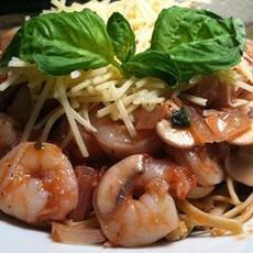 Shrimp Pasta with Tomato Basil Sauce