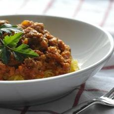 Spaghetti Squash with Paleo Meat Sauce