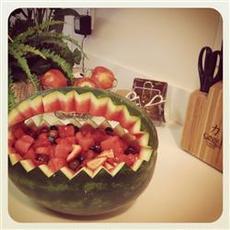 Watermelon Fruit Salad Bowl