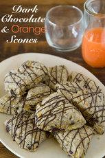 Dark Chocolate and Orange Scones