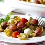Orecchiette with Roasted Tomatoes and Roasted Grapes