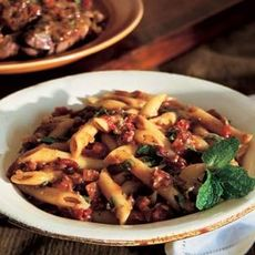 Penne with Lamb Ragù and Mint