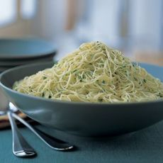 Cappellini with Lemon, Garlic and Parsley