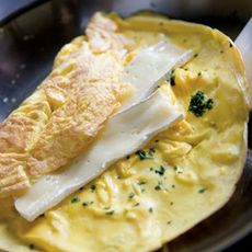Lots-of-Herbs Omelette Stuffed with Brie