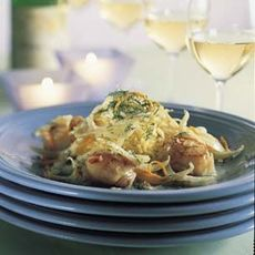 Sautéed Scallops with Orange, Fennel and Ginger