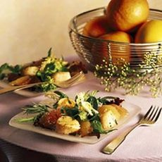 Spring Lettuces with Grapefruit and Sautéed Scallops