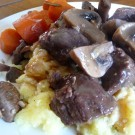 Braised Beef with Mushroom and Cabernet Sauce