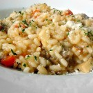Italian Sausage, Red Pepper and Mushroom Risotto