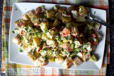 lobster and potato salad