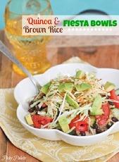 Quinoa and Brown Rice Black Bean Fiesta Bowl